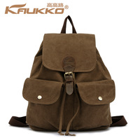New Fashion Women Canvas Brown Backpack Rucksack Campus Satchel School Bag Totes Travel Bags