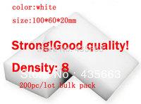 TOP FAITH,white,Magic Sponge Eraser Melamine sponge Cleaner,100x60x20mm,bulk pack, multi-functional Cleaning  200pc/lot