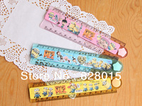 Free shipping 100pcs/lot Despicable Me Minions cute anime Stationery ruler Foldable Ruler Folded length 15cm