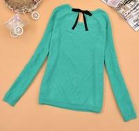Box autumn new arrival 2013 women's 100% cotton slim o-neck long-sleeve sweater female sweater 303