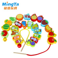 Toy fruit zodiac toy shape wooden beads toy 1 - 3 years old