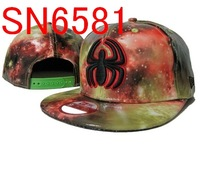snapbacks hats,high quality and free shipping! night sky style black spide snapbacks hat MIX order sell snapbacks SN6581