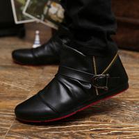 2013 autumn new Korean high-top shoes, fashion boots men boots men fashion  boots England Lun
