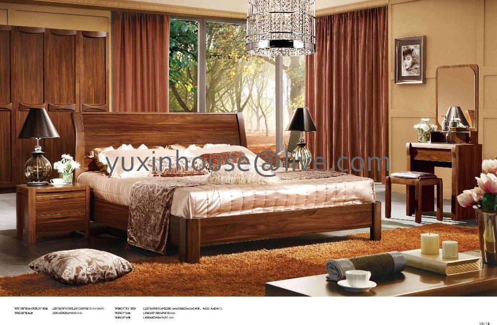 Lit Moderne En Bois Massif : en bois massif , lit en bois de style moderne , lit classique, lit en