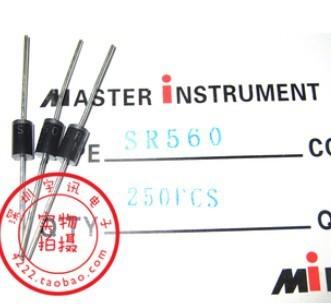 Free shipping 250PCS SR560 SB560 5A 60V Schottky diode rectifier diode
