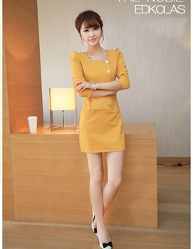 2013  Autumn women's new temperament Slim package hip inner dress /  long sleeve dress Freeship instock