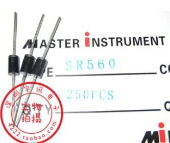 Free shipping 30PCS SR560 SB560 5A 60V Schottky diode rectifier diode