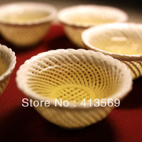 Amazing Draw Water With A Sieve Teacup Chinese Style Handcraft  Hollowed-out Ceramic Cup