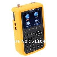 "Free shipping SATlink WS-6909 3.5"" DVB-S & DVB-T Combo Satellite Signal Finder Meter"