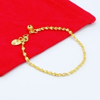New Arrival Fashion 24K GP Gold Plated Mens Jewelry Bracelet Yellow Gold Golden Bracelet Bangle Free Shipping YHDH026