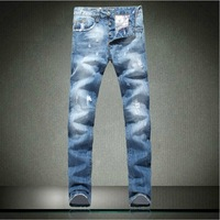Trend men's small hole jeans trousers new arrival 2013 all-match fashion trousers
