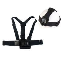 Free shipping Telescope Mount Nylon Chest Harness adjustable Strap Shoulder+ head band For Gopro Hero2 3 Camera Belt Accessories