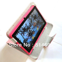 "Colorful Flip Leather Case Cover+Stylus For 8"" Archos 80 xenon/80 platinum Tab Free shipping"