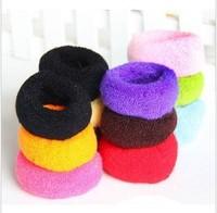 Ultra elastic candy multicolour towel headband hair rope hair band broad-brimmed