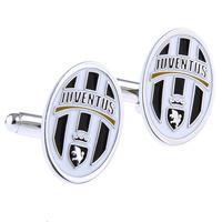 fashion sports juventus cufflinks for mens jewelry stoving varnish cuff links