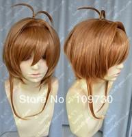 jj 00273 Cosplay Magic card girl cherry/Sakura Kinomoto Golden brown Heat Wig