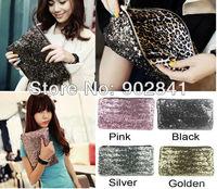 (Min order :2pcs)Dazzling Glitter Sparkle Sequin Spangle Clutch Pouch Evening Bag Wallet Purse