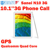 FreeShipping Sanei N10 3G phone call Quad core tablet pc 10.1inch IPS Qualcomm Cortex-A9 1.2GHz GPS Tablet Camera Bluetooth