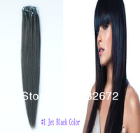 cheap  Brazilian Long straight Remy  Hair Micro loop Ring Extension 14.16.18.20.22.24.26 .28inch  #1 Jet Black  Color 1g/s 100g