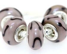 200pcs 925 Silver Murano Glass Beads Fit All European Charm Bracelet hallmarked m90(China (Mainland))