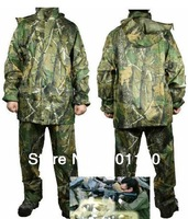 Bionic Camouflage Camo Split Raincoat Biomimicry Jungle Raincoat Cold-proof Waterproof Camouflage Hunting clothes rain pants
