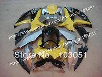 7 gifts body kits for 2008 SUZUKI GSXR 750 fairings 2009 2010 GSXR 600 fairing K8 08 09 10 glossy yellow black su32