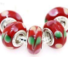 200pcs 925 Silver Murano Glass Beads Fit All European Charm Bracelet hallmarked K25(China (Mainland))