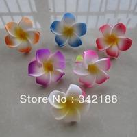 2014 Hawaiian frangipani foam flower clips, Beach style hair clips,flower clips for ladies, mixed colors