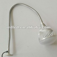 12w 220v led worklight/led work lamp with flexible arm/220V PLUG 12W LED MACHINE WORK BULB LIGHT