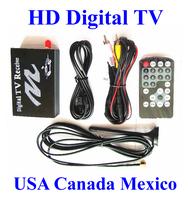 Car Digital TV Box ATSC MH Mobil TV Receive vehicler Digital TV Receiver USA Canada Mexico America United States Free HK Post