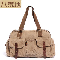 Vintage Canvas Bag Shoulder Bag Casual Bag 2013 New Fashion 0503 Khaki Green Black