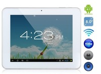 hot selling Freeshipping 8inch Ampe A85 quad Core tablet pc Android 4.1 5 point capacitive screen RK3066 8GB ROM Dual Cameras