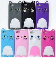 High Quality 3D Koko Cat silicone case For Iphone 5 Free Shipping 7 colors