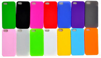 Free Shipping Multi Color Simple Soft Silicon Case Covers For iphone 5 5S