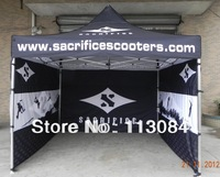 FREE SHIPPING ! Full inside and outside digital printing 38x38x1.8mm aluminum 3m x 3m folding marquee tent / advertising gazebo
