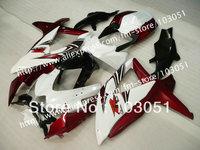 7 gifts custom for 2008 SUZUKI GSXR 600 fairings 2009 2010 GSXR 750 fairing K8 08 09 10 glossy dark red white su49