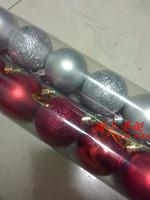 Christmas tree decoration christmas ball the light plated ball plastic christmas ball 6cm matt ball