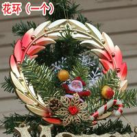 Christmas wreath plastic decoration garland christmas tree decoration pendant christmas decoration