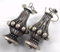 Beautiful Pair Miao Minority Silver Earring Fashion Free shipping 34576