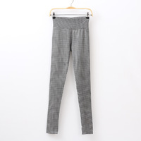 2013 autumn women's fashion vertical stripe houndstooth slim hip slim pencil pants legging