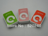 Factory Price Wholesale 100pcs/lot Clip Music Player Beautiful Gift MP3 With Retail Box Stylish MINI Card MP3 Player