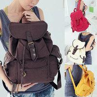 Retro Vintage Womens Travel Satchel Shoulder BAG Canvas Backpack Rucksack School