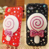 Cute bow lollipop phone shell
