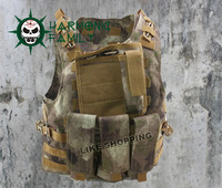 Tactical Molle Amphibians combat vest wire steel free ship
