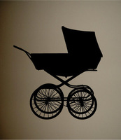 5pcs/lot Wall Decal Art Sticker Quote Vinyl Cute Baby Buggy Wall Decal Nursery Decor