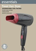 End of a single folding hair dryer 1200w travel