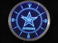 nc0503 Dallas Cowboys Neon Sign LED Wall Clock Wholesale Dropshipping
