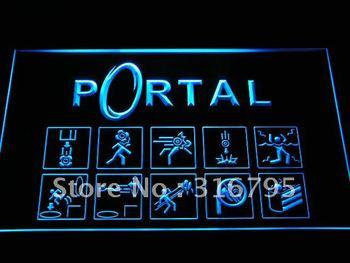 e068-b Portal Game Logo Neon Light SignWholesale Dropshipping