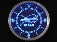 nc0499 Buffalo Bills Neon Sign LED Wall Clock Wholesale Dropshipping