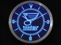 nc0548-b St Louis Neon Sign LED Wall Clock Wholesale Dropshipping